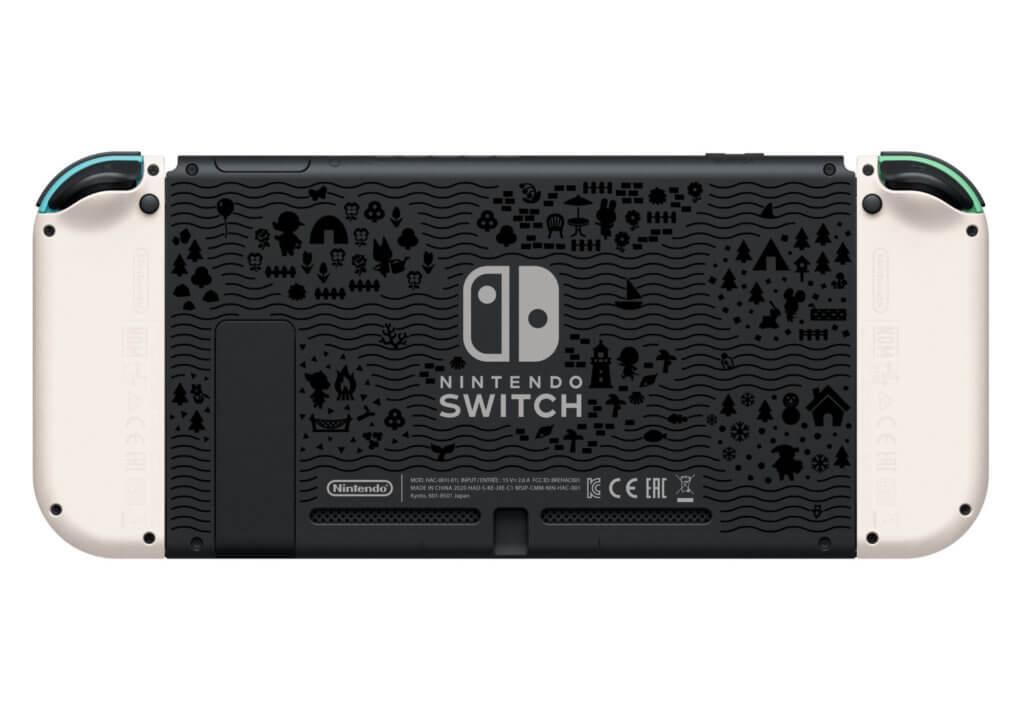 2 Nintendo Switch Animal Crossing New Horizons Edition Back