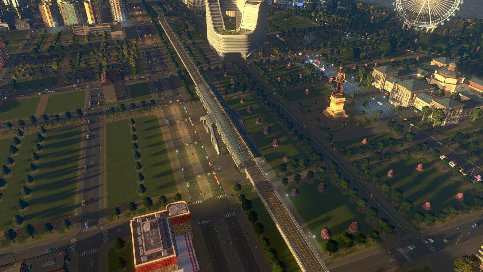 City Skylines Sunset Harbor Screen 01