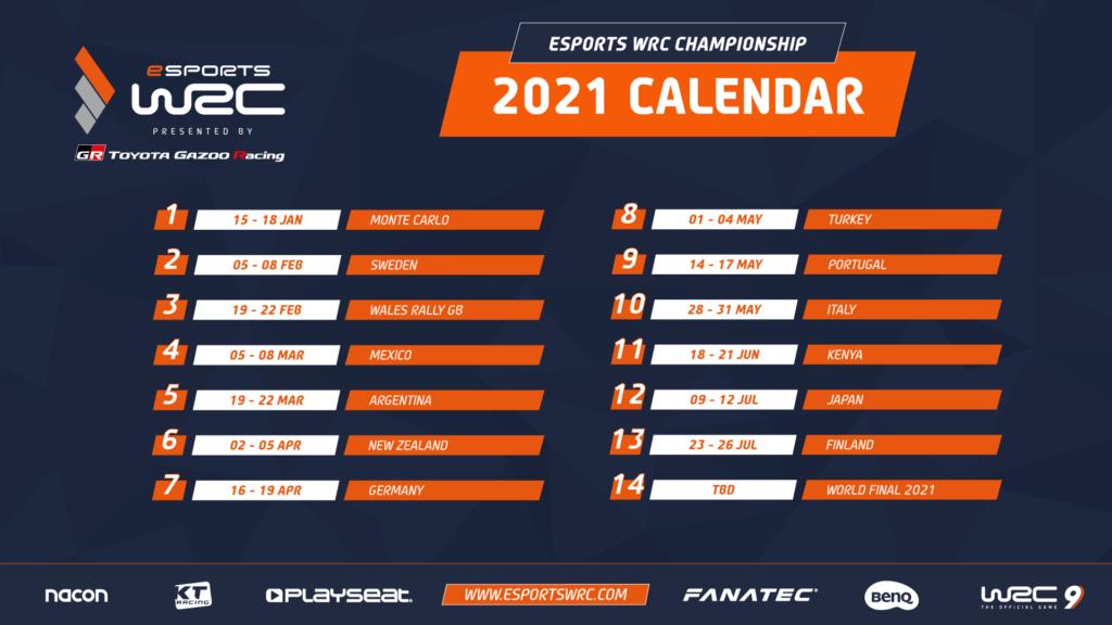 201209 Wrc9 Esportwrcmeisterschaft Calendar